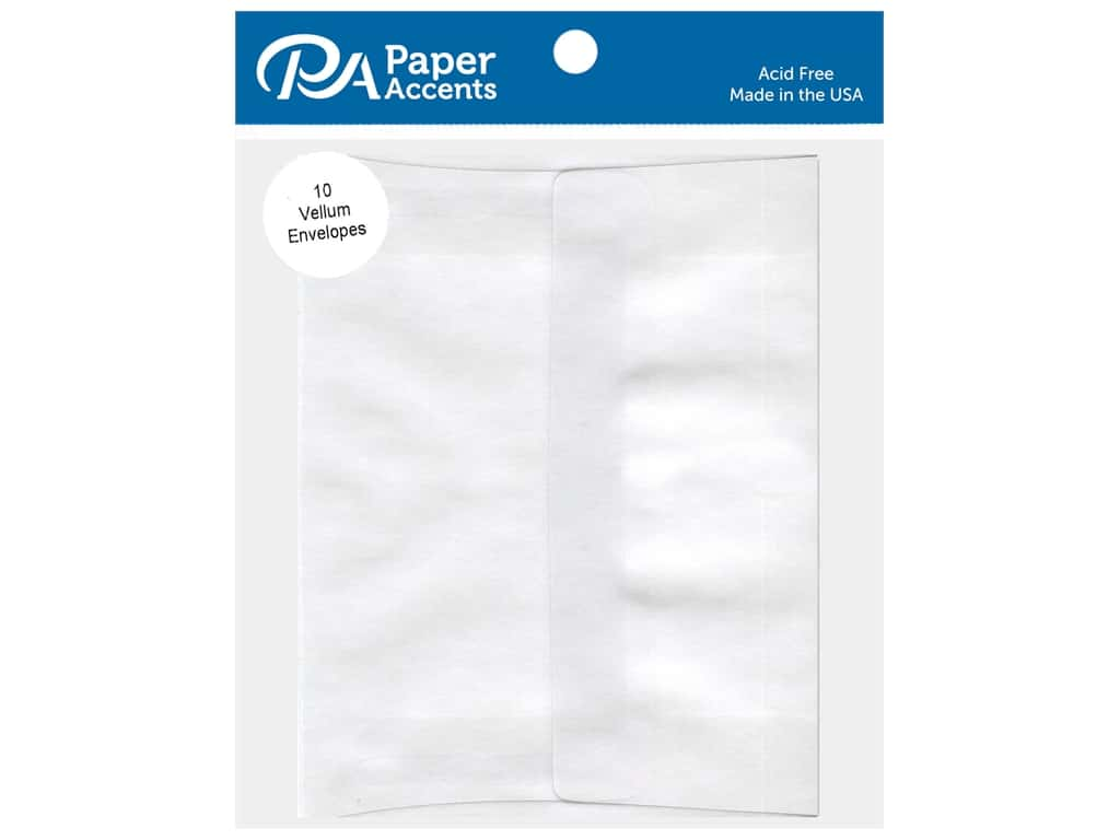 Paper Accents 2 1/8 x 3 5/8 in. Vellum Envelopes 10 pc.