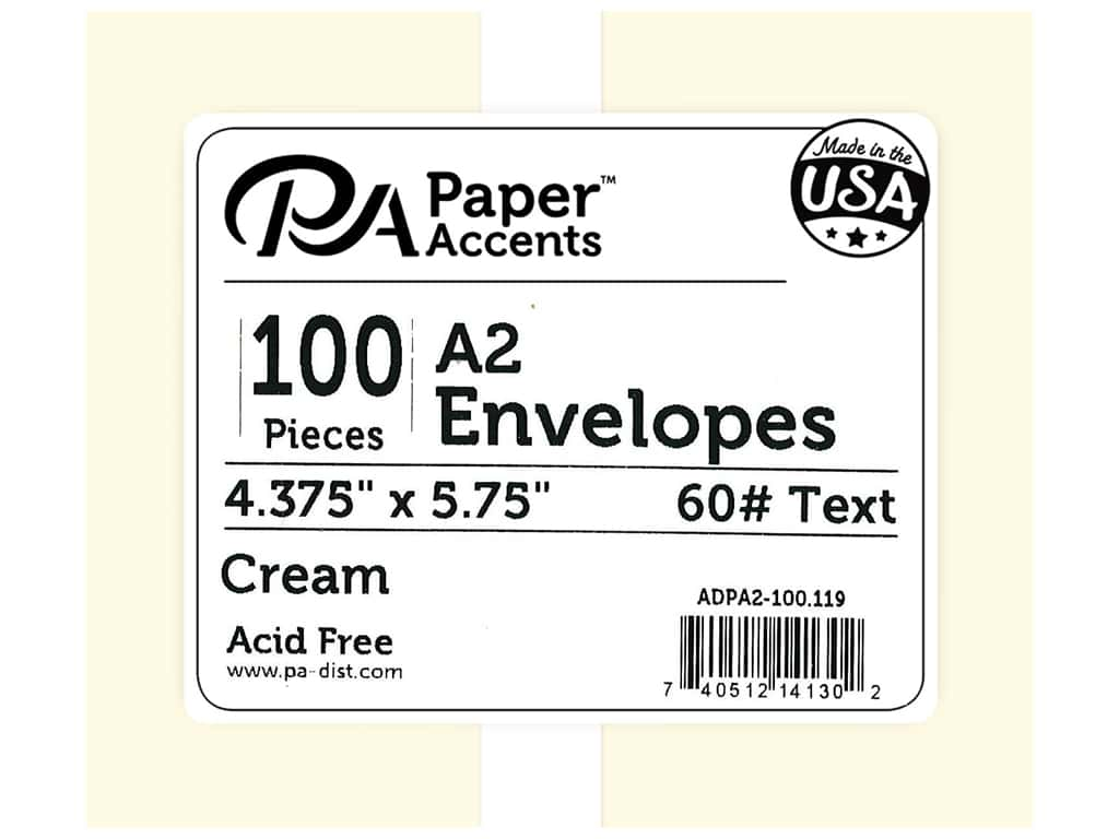 Paper Accents 4 1/4 x 5 1/2 in. Envelopes 100 pc. #119 Cream