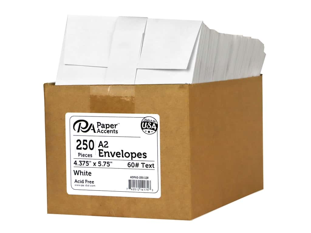 Paper Accents 4 1/4 x 5 1/2 in. Envelopes 250 pc. #128 White