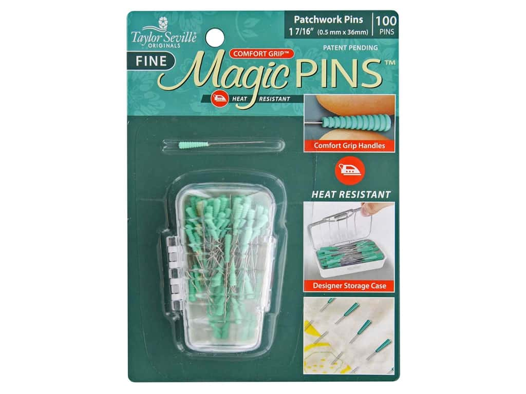 Taylor Seville Magic Pins Fine Patchwork 1.44 in. Heat Resist 100 pc