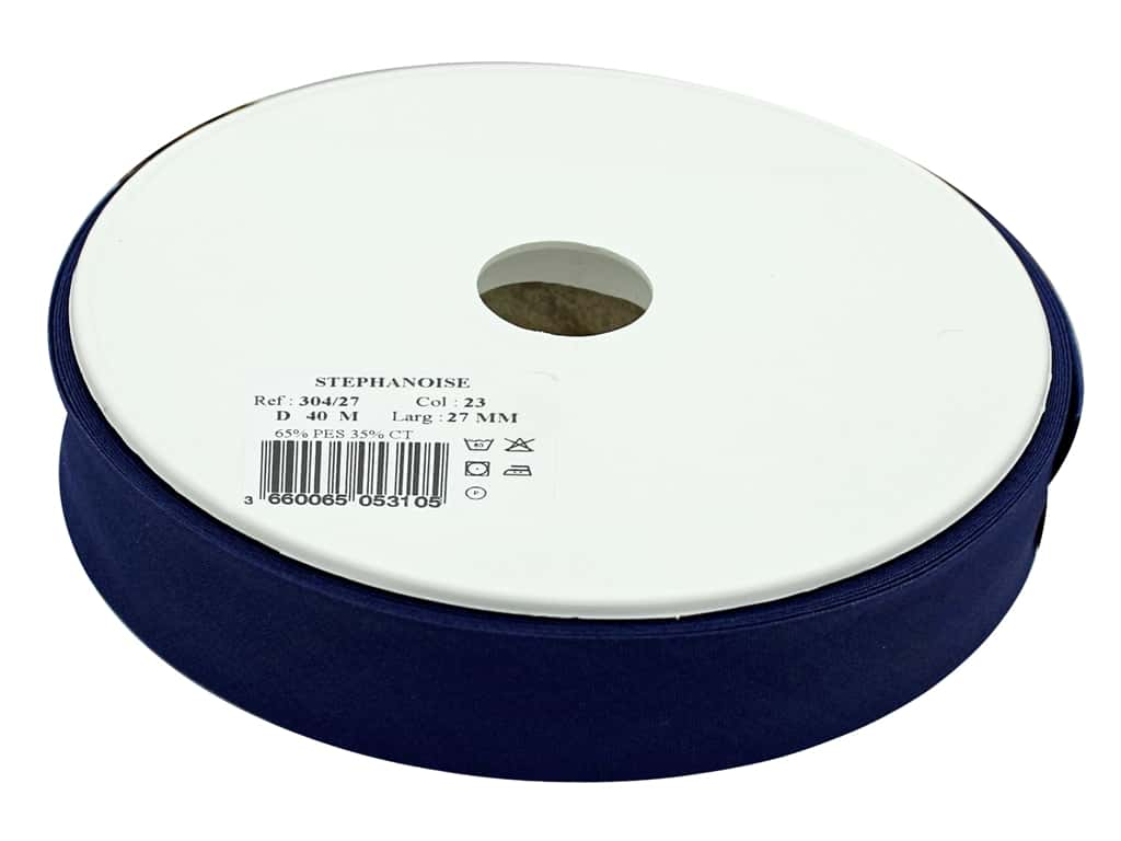 Stephanoise Poly/Cotton Bias Tape 27 mm Navy (44 yards)