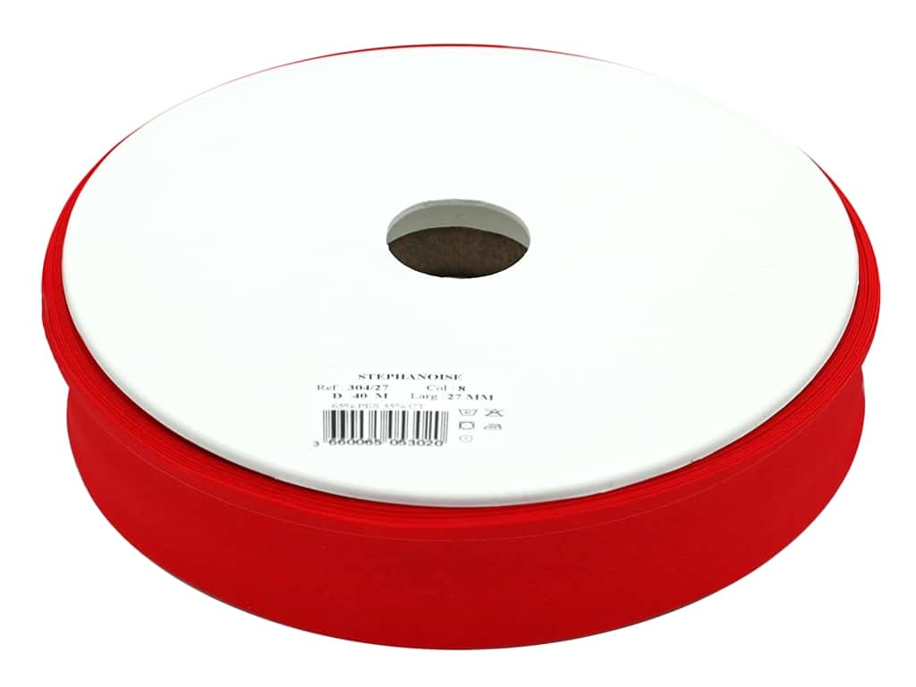 Stephanoise Poly/Cotton Bias Tape 27 mm Red (44 yards)