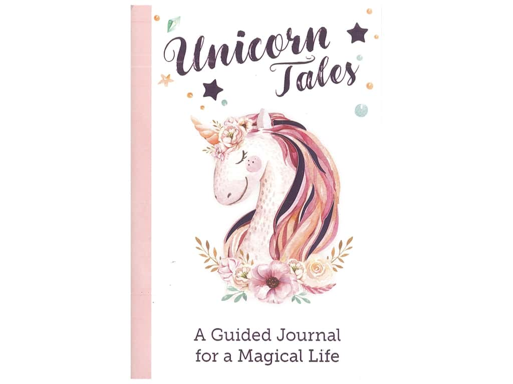 Leisure Arts Unicorn Tales Guided Journal Book