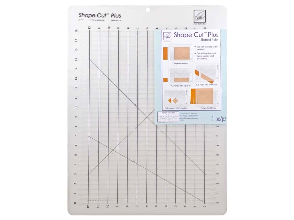 June Tailor Ruler Shape Cut Plus Quiltools 12 in. x 18 in.