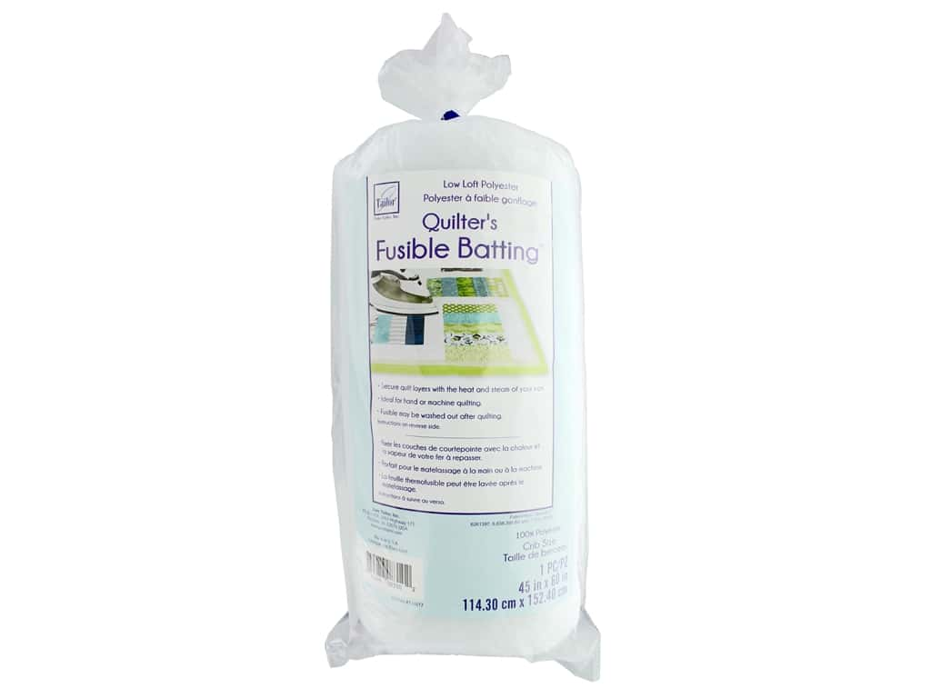 June Tailor Batting Poly Low Loft Fusible 45 in. x 60 in.  Crib