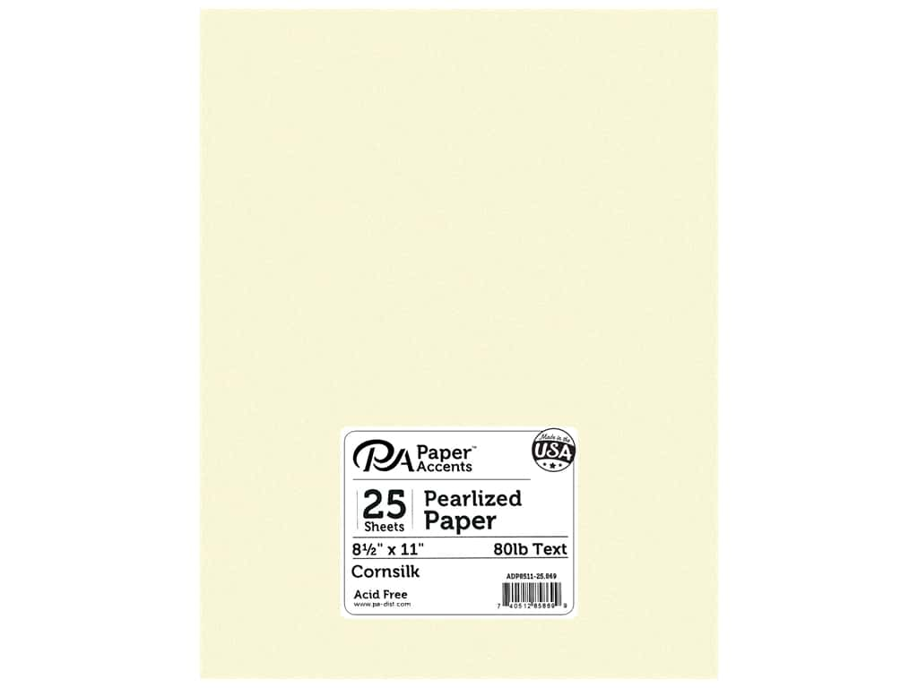 Paper Accents Pearlized Paper 8 1/2 x 11 in. #869 Cornsilk 25 pc.