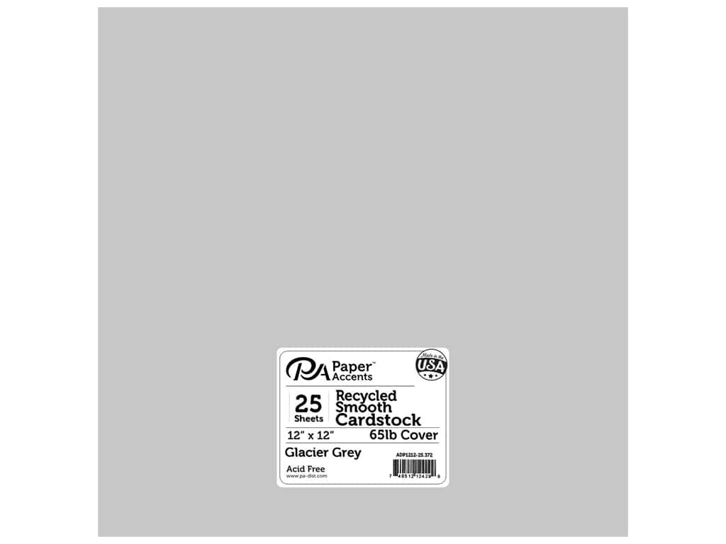 Paper Accents Cardstock 12 x 12 in. #372 Recycled Glacier Grey 25 pc.