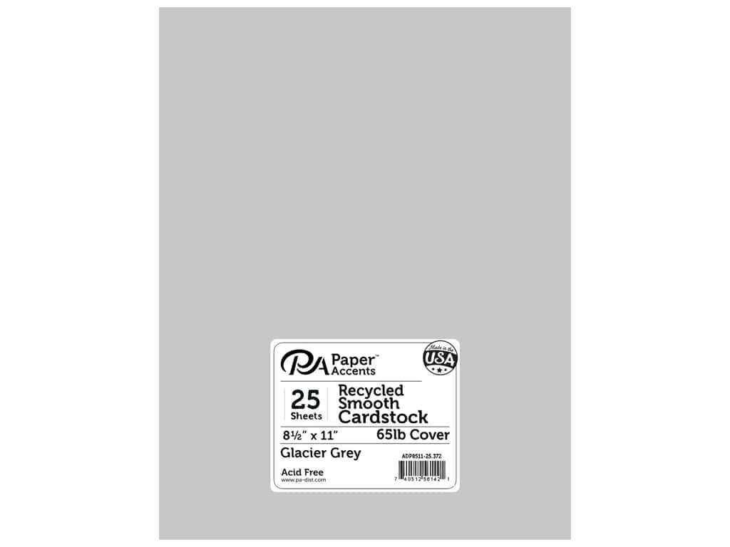 Paper Accents Cardstock 8 1/2 x 11 in. #372 Recycled Glacier Grey 25 pc.