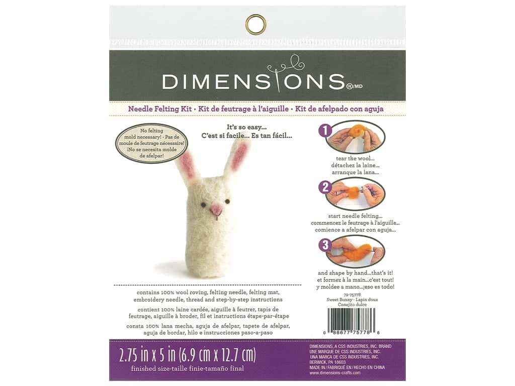 Dimensions Needle Felting Kit Sweet Bunny
