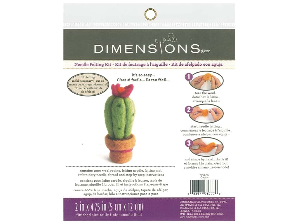 Dimensions Needle Felting Kit Cactus
