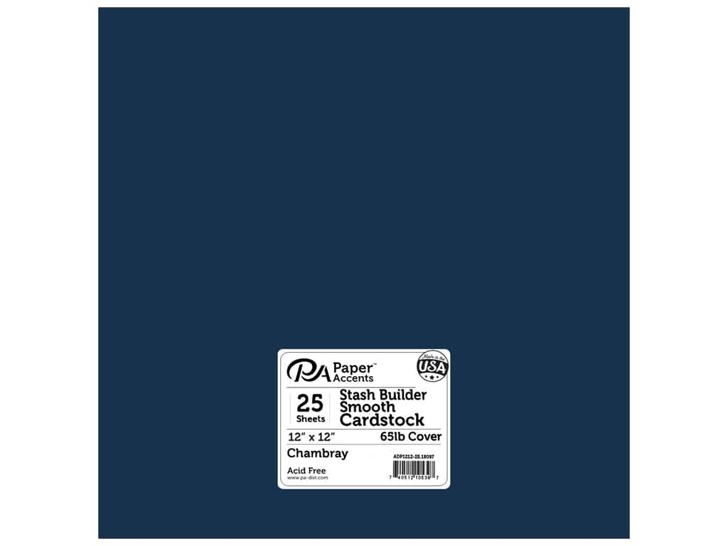 Paper Accents Cardstock 12 x 12 in. #18097 Stash Builder Chambray 25 pc.