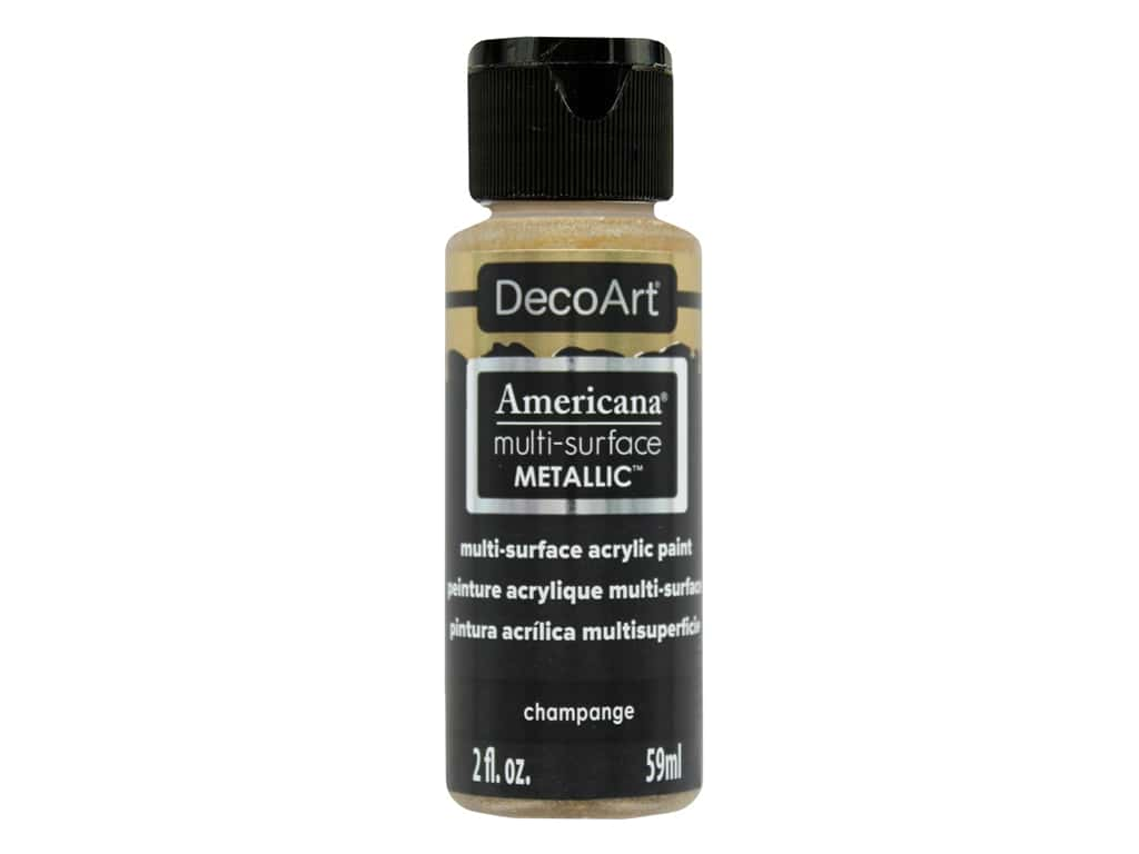 DecoArt Americana Multi-Surface Satin 2 oz. #554 Metallic Champagne