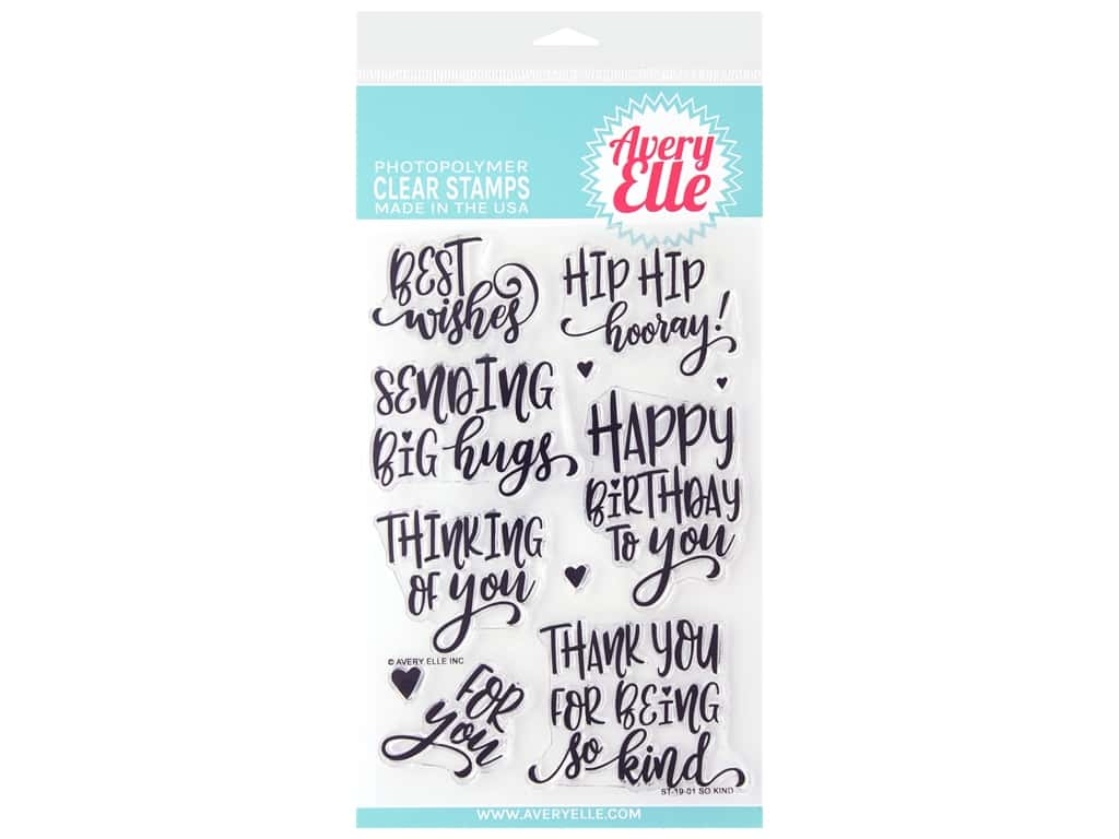 Avery Elle Clear Stamp So Kind