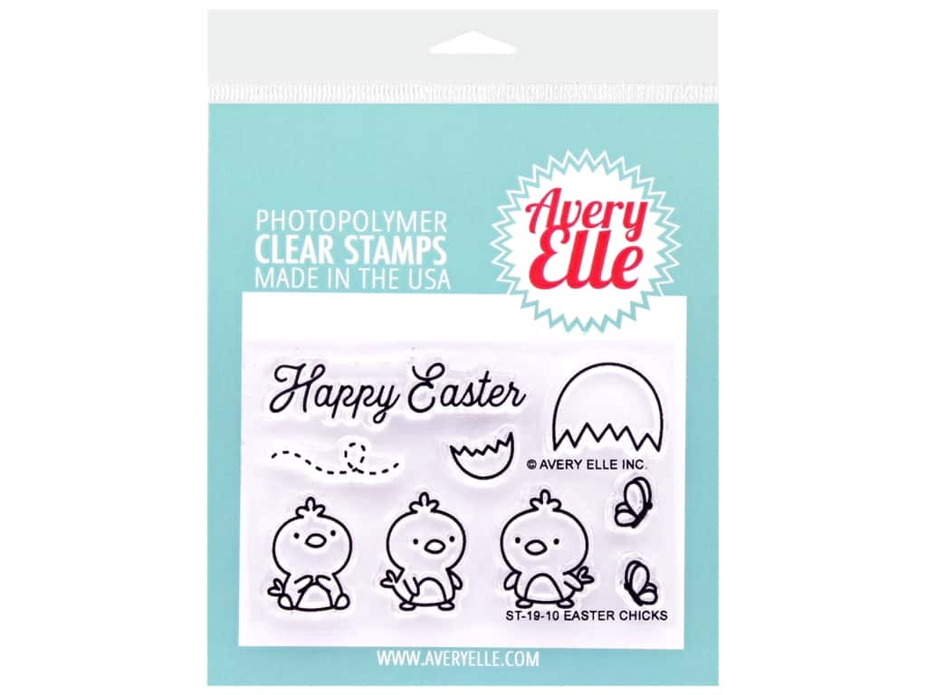 Avery Elle Clear Stamp Easter Chicks