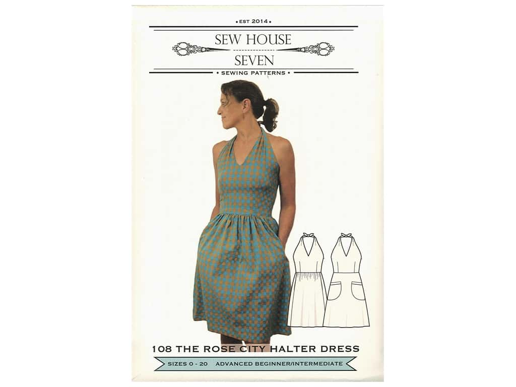 Sew House Seven The Rose City Halter Dress Pattern