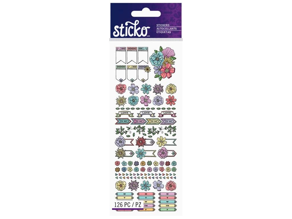 EK Sticko Stickers Tiny Etched Planner