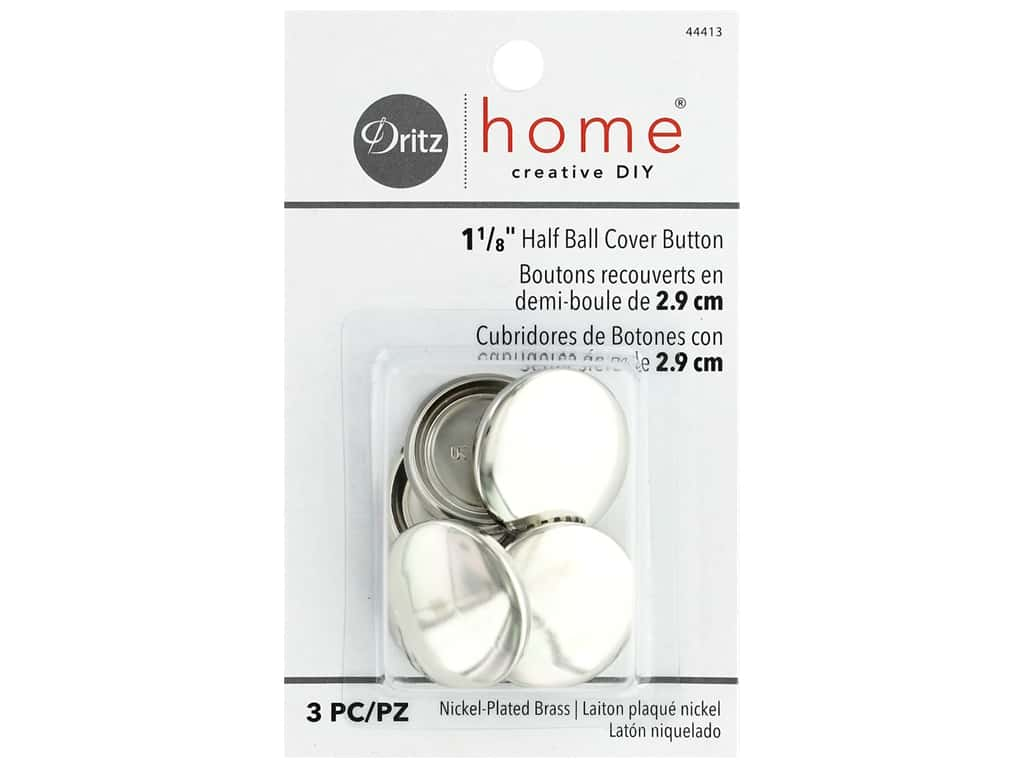 Dritz Home Cover Button 1.13 in. 3 pc