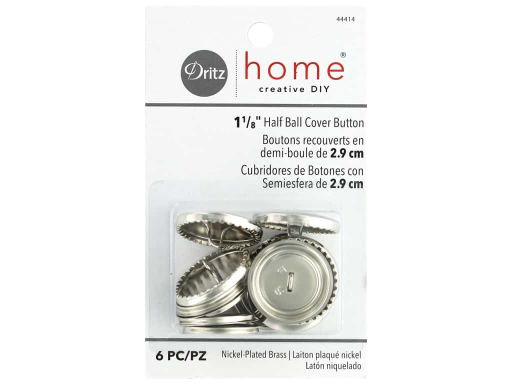 Dritz Home Cover Button 1.13 in. 6 pc