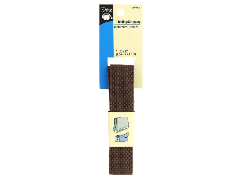 Dritz Polypropylene Belting/Strapping 1 in. x 2 yd. Brown