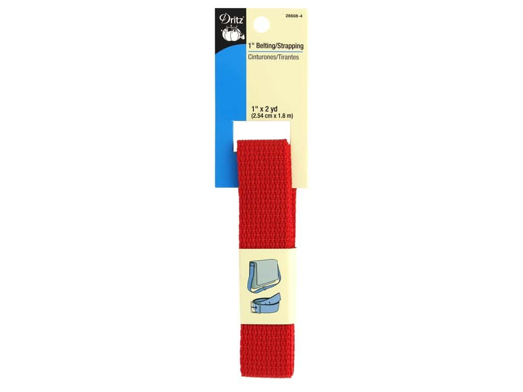 Dritz Polypropylene Belting/Strapping 1 in. x 2 yd. Red