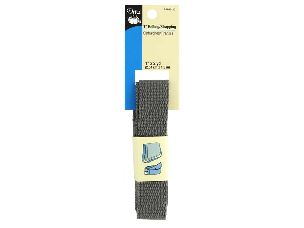 Dritz Polypropylene Belting/Strapping 1 in. x 2 yd. Gray