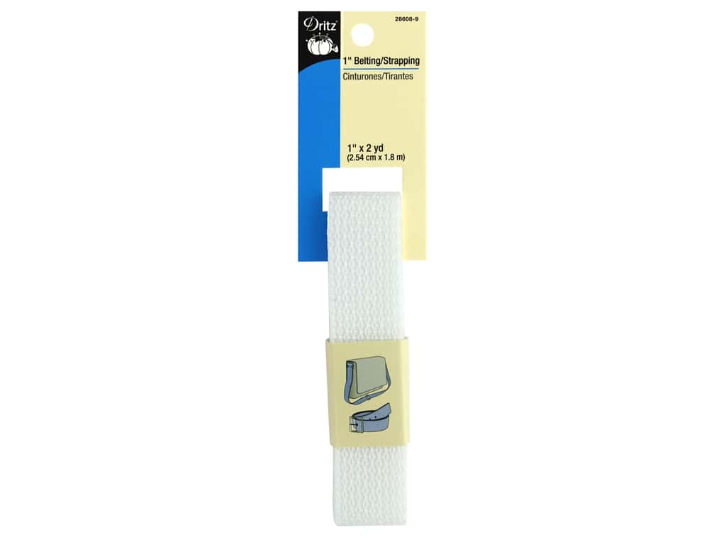 Dritz Polypropylene Belting/Strapping - 1 in. x 2 yd. White