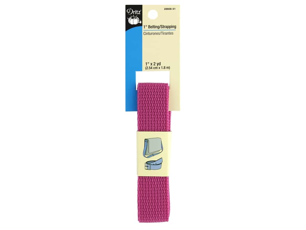 Dritz Polypropylene Belting/Strapping 1 in. x 2 yd. Raspberry
