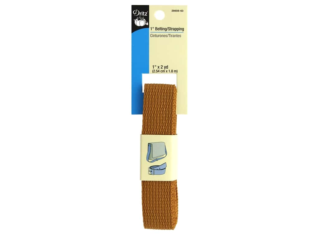 Dritz Polypropylene Belting/Strapping - 1 in. x 2 yd. Russet