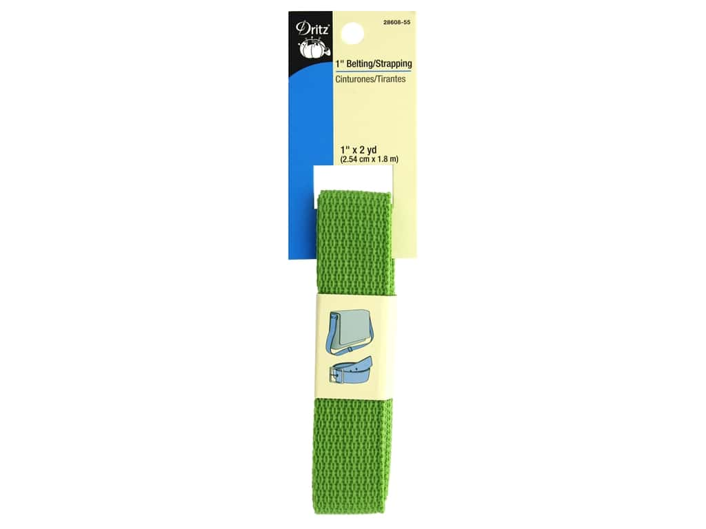 Dritz Polypropylene Belting/Strapping 1 in. x 2 yd. Peridot