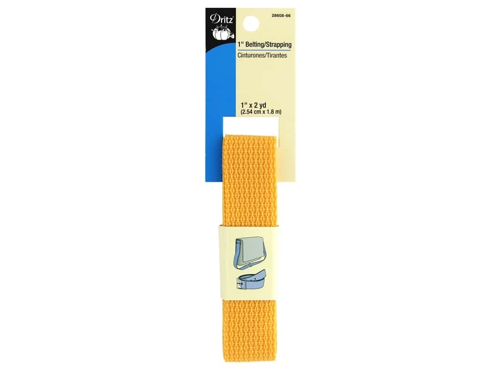 Dritz Polypropylene Belting/Strapping 1 in. x 2 yd. Citrus
