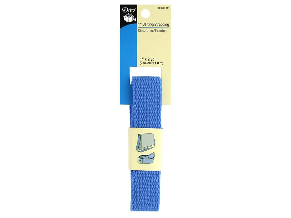 Dritz Polypropylene Belting/Strapping 1 in. x 2 yd. Sky Blue