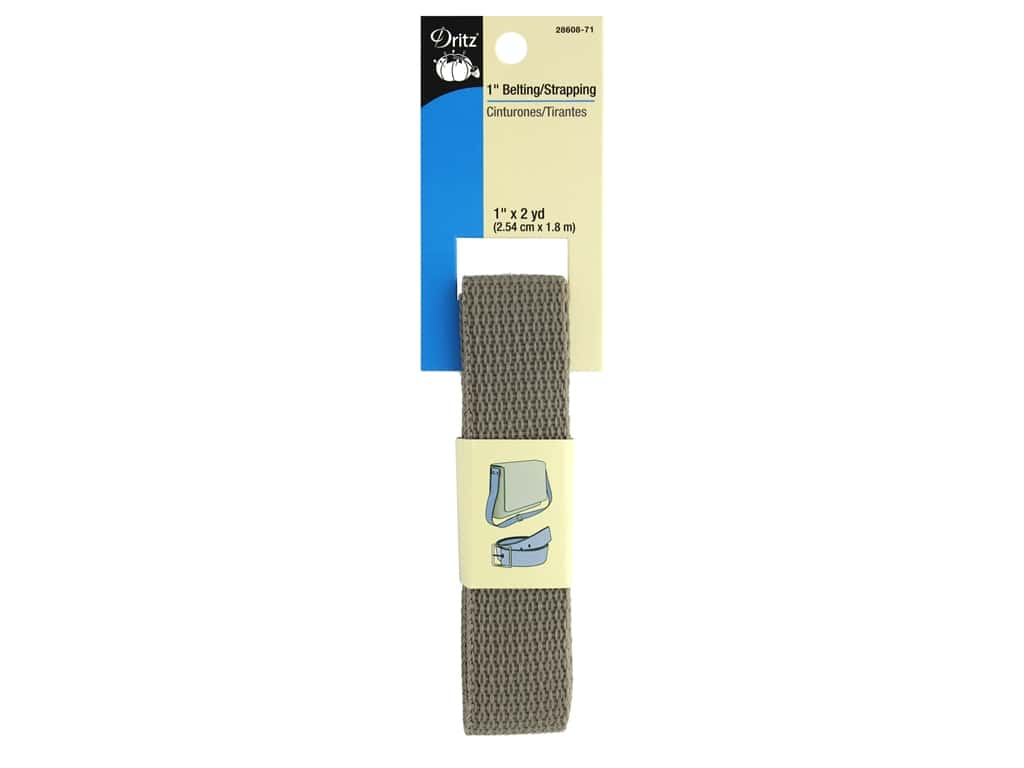 Dritz Polypropylene Belting/Strapping 1 in. x 2 yd. Taupe