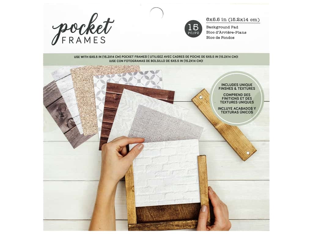 American Crafts Details 2 Enjoy Pocket Frames Background Pad 6 in. x 6 in.