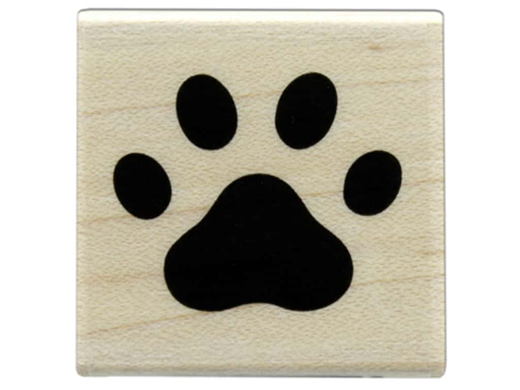 Hero Arts Rubber Stamp Wood Paw Print