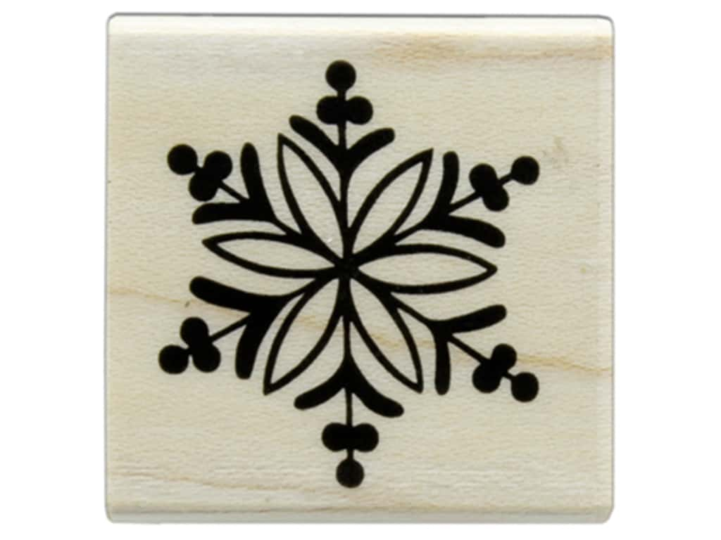 Hero Arts Rubber Stamp Wood Little Snowflake
