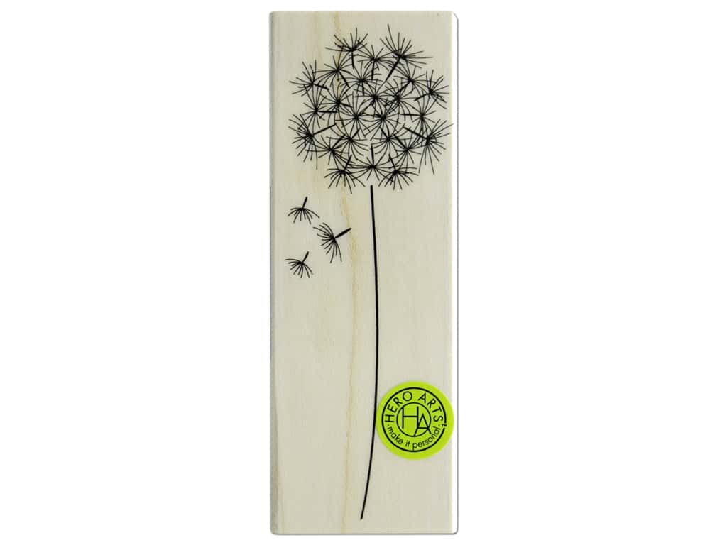 Hero Arts Rubber Stamp Wood Dandelion