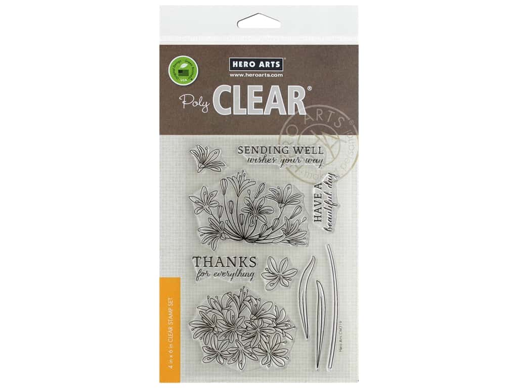 Hero Arts Poly Clear Stamp Beautiful Day Agapanthus