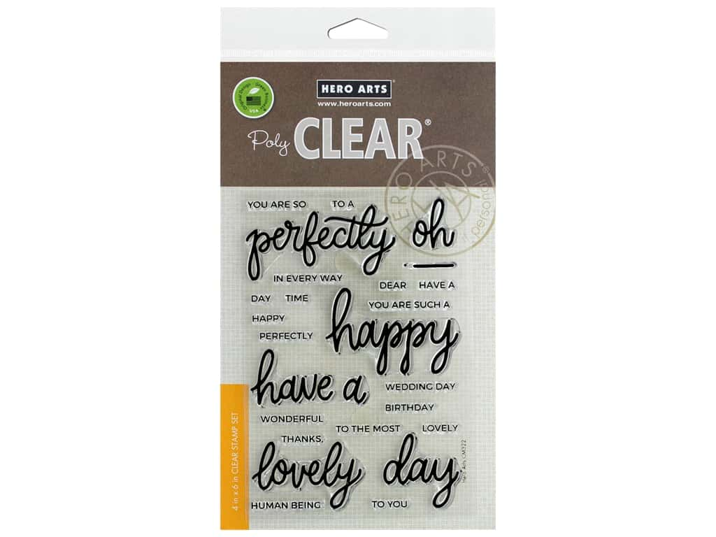Hero Arts Poly Clear Stamp Mix & Match Compliments