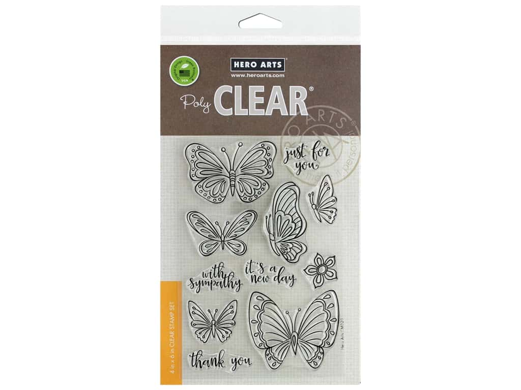Hero Arts Poly Clear Stamp New Day Butterflies
