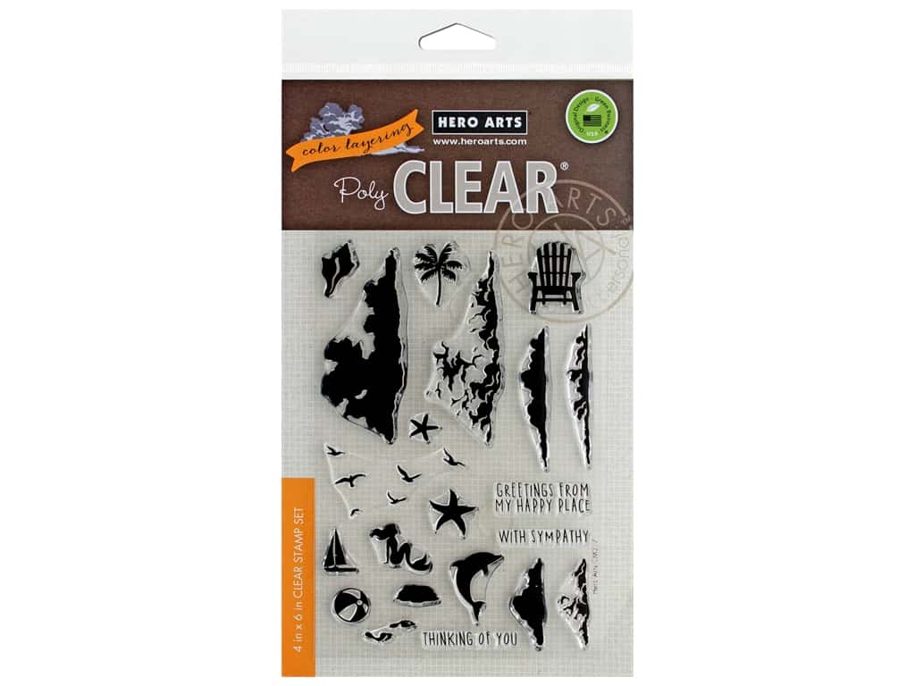 Hero Arts Poly Clear Stamp Color Layering Sea & Sky