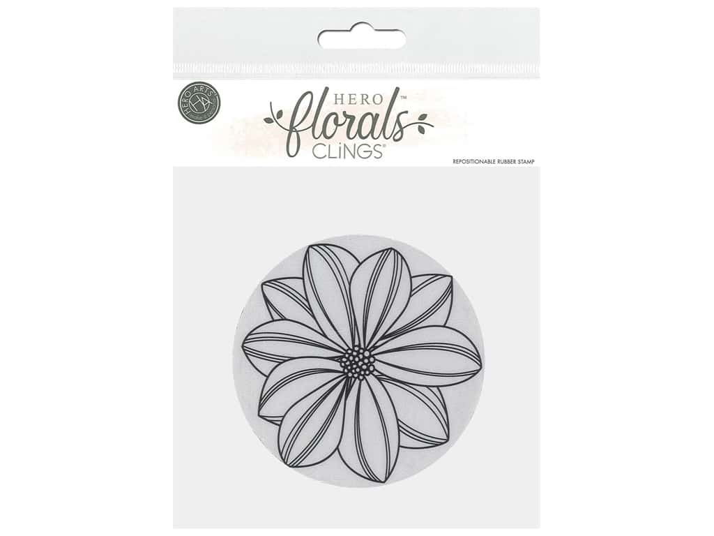 Hero Arts Cling Stamp Floral Overlapping Petals