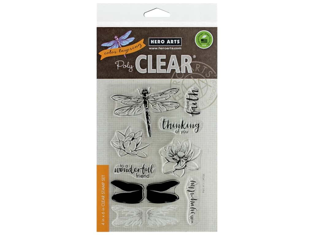 Hero Arts Poly Clear Stamp Color Layering Dragonfly