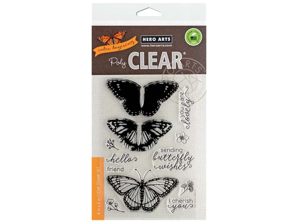Hero Arts Poly Clear Stamp Color Layering Monarch Butterfly
