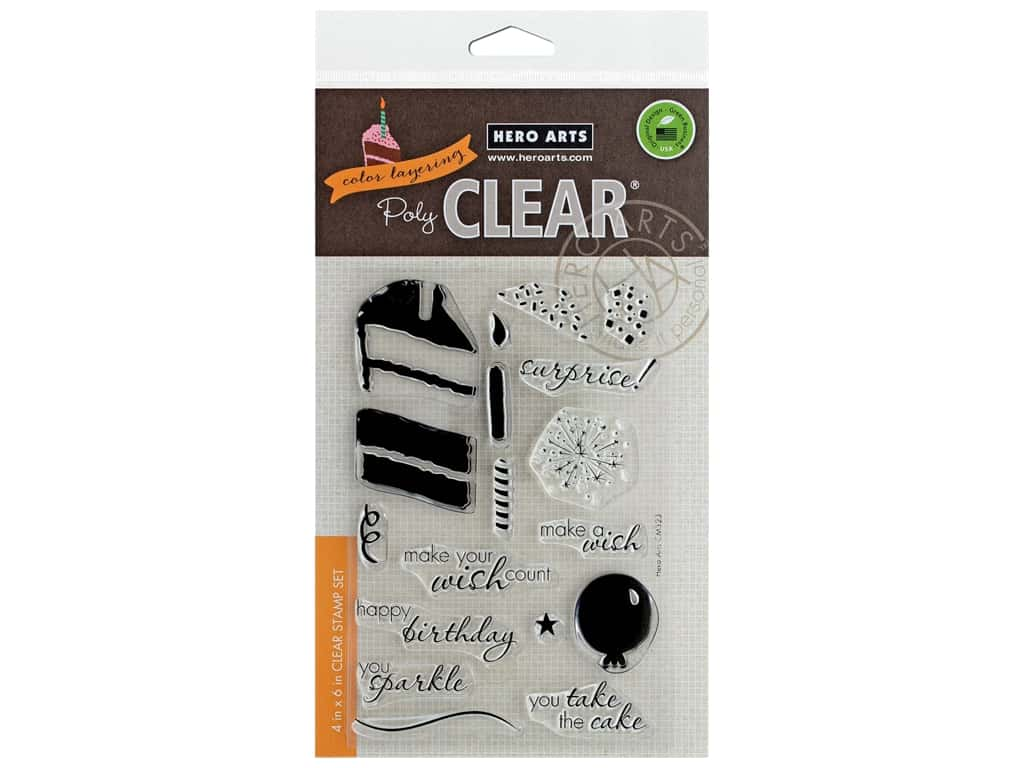 Hero Arts Poly Clear Stamp Color Layering Birthday Cake