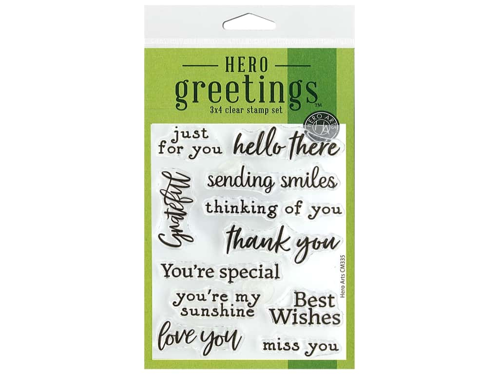 Hero Arts Poly Clear Stamp Greeting Sending Smiles