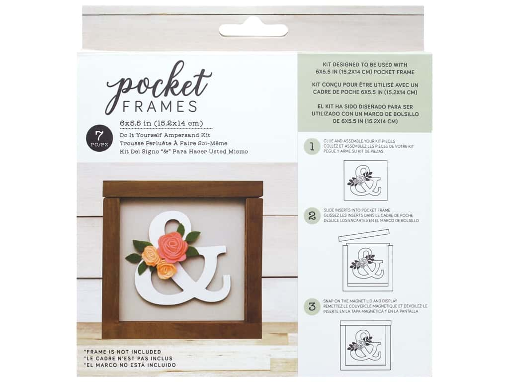 American Crafts Details 2 Enjoy Pocket Frames DIY 6 in. x 5.5 in. Ampersand