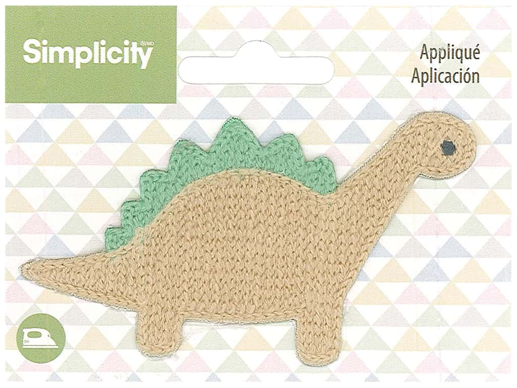 Simplicity Applique Iron On Dinosaur