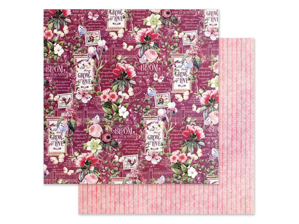 Graphic 45 Collection Bloom Paper 12 in. x 12 in. Life Is Beautiful (25 pieces)