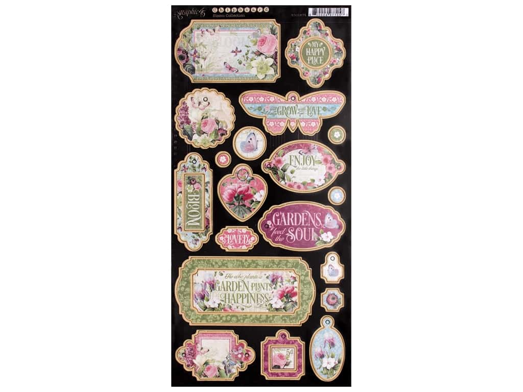 Graphic 45 Collection Bloom Chipboard