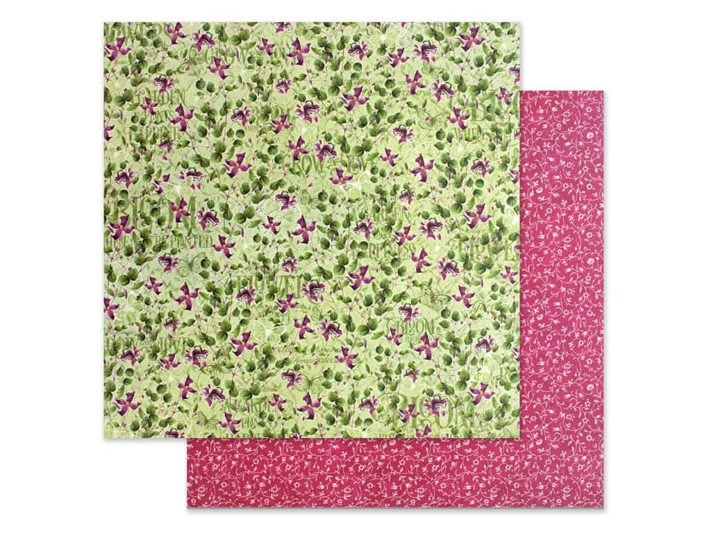 Graphic 45 Collection Bloom Paper 12 in. x 12 in. Dainty Blossoms (25 pieces)
